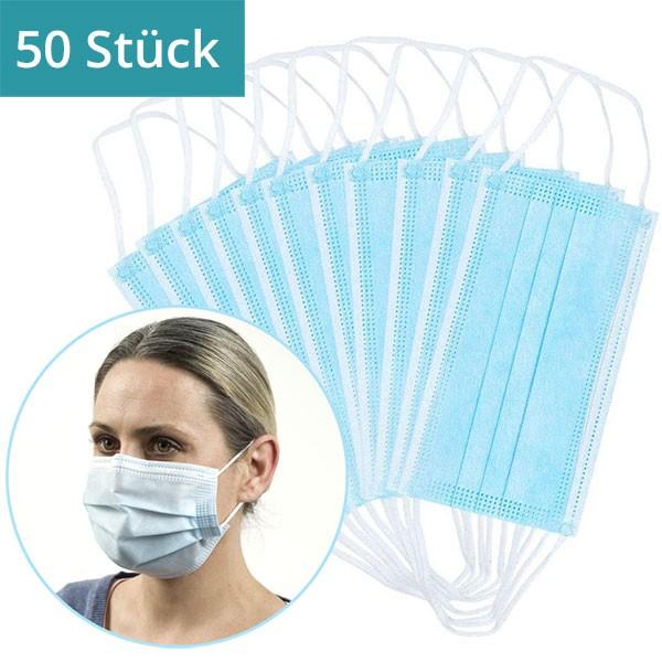 50 Stück - Mund-Nasen-Maske mit Bügel