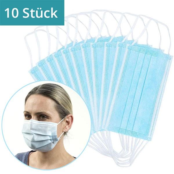 10 Stück - Mund-Nasen-Maske mit Bügel